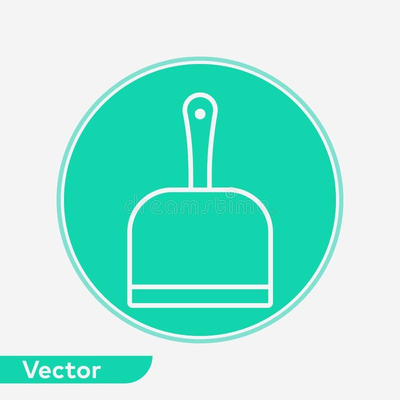Символ знака значка вектора Dustpan бесплатная иллюстрация