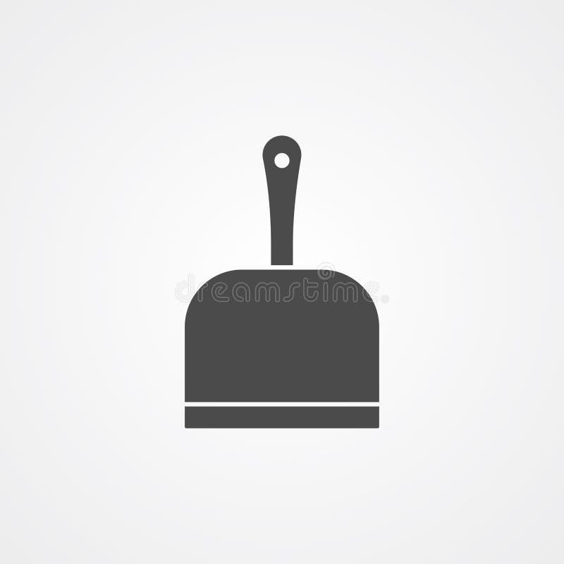 Символ знака значка вектора Dustpan иллюстрация штока
