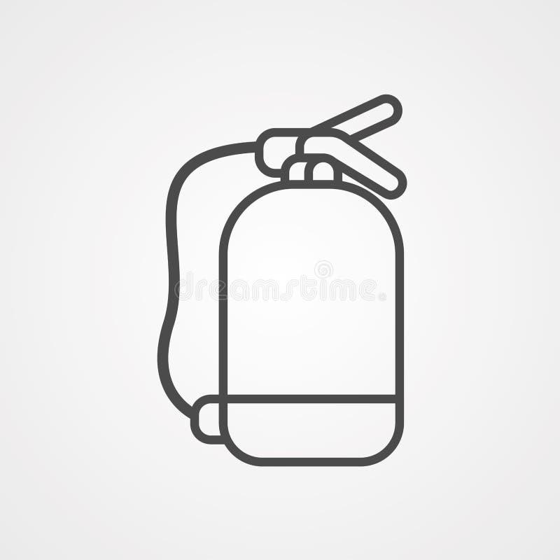 Символ знака значка огнетушителя бесплатная иллюстрация