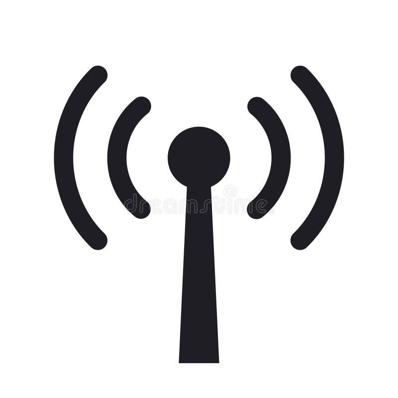 Символ значка вектора радиоволн антенны бесплатная иллюстрация
