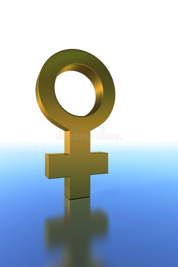 Символ золота женский стоковые изображения rf