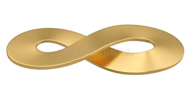 Символ золота неограниченный изолированный на белой предпосылке иллюстрация 3d иллюстрация вектора
