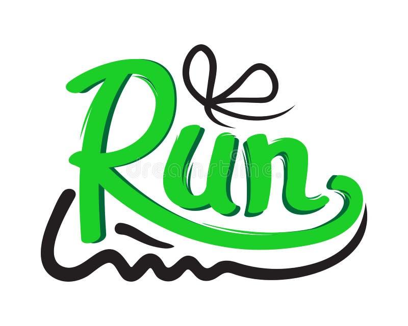 Символ идущего ботинка на белой предпосылке тренеры иллюстрация вектора