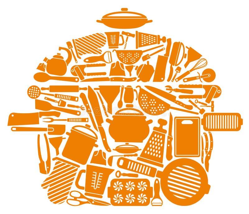 Символ изделий кухни иллюстрация штока
