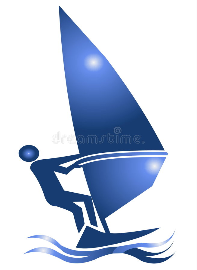 символ иконы windsurf иллюстрация вектора