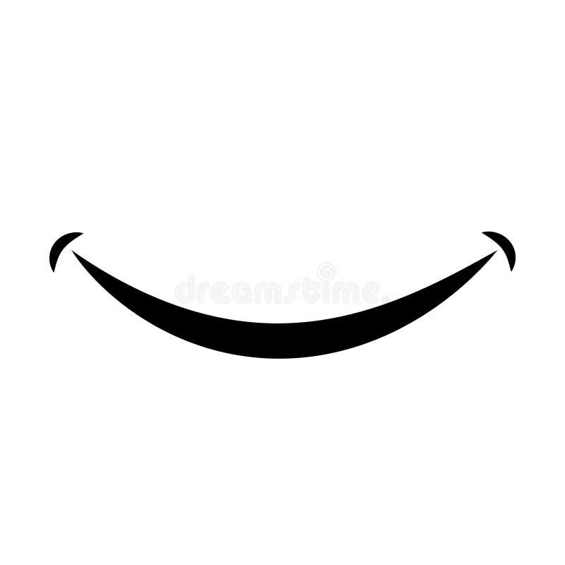 Символ или логотип дизайна векторной графики значка улыбки бесплатная иллюстрация