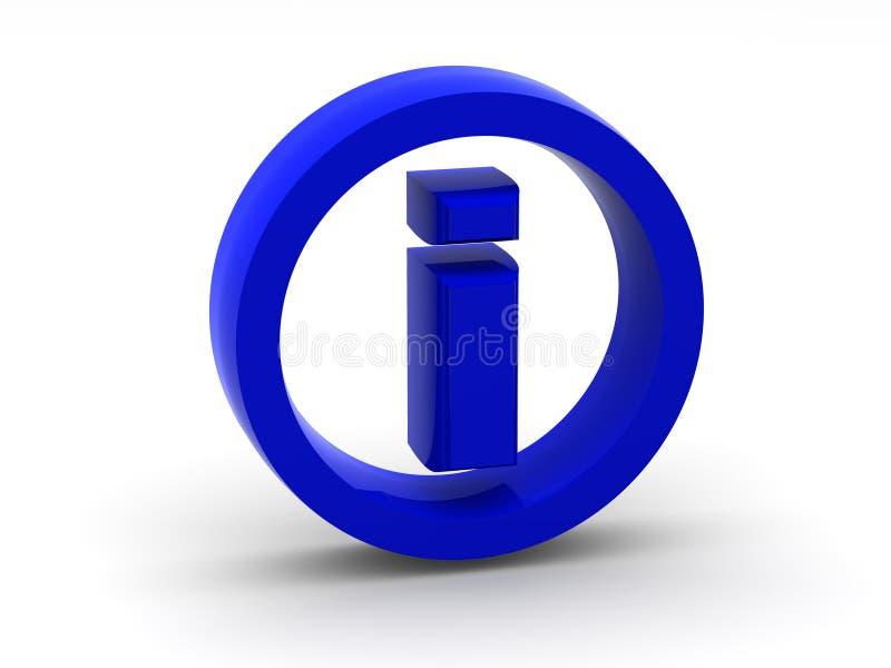 символ информации 3d иллюстрация штока