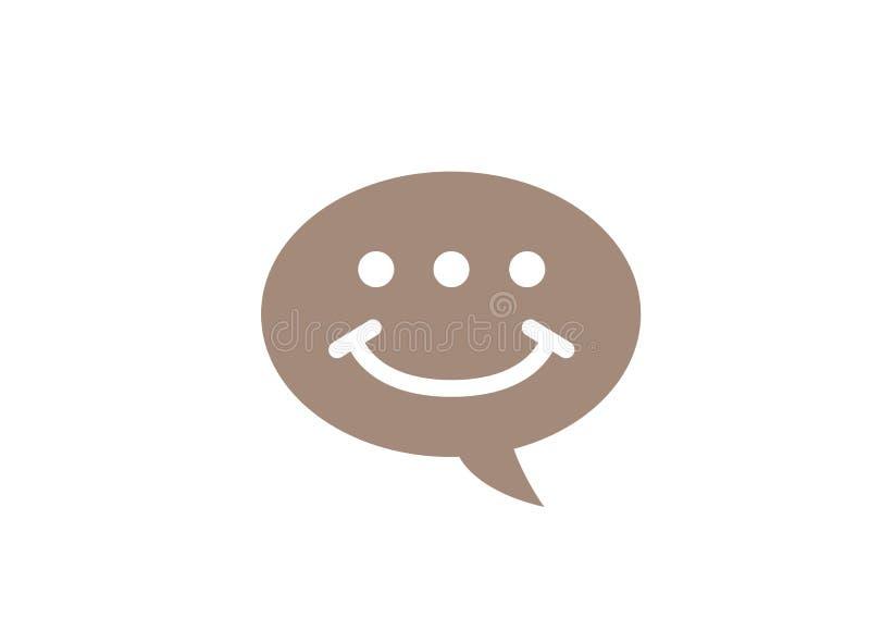 Символ и обслуживание клиента связи значка болтовни улыбки для дизайна логотипа иллюстрация вектора