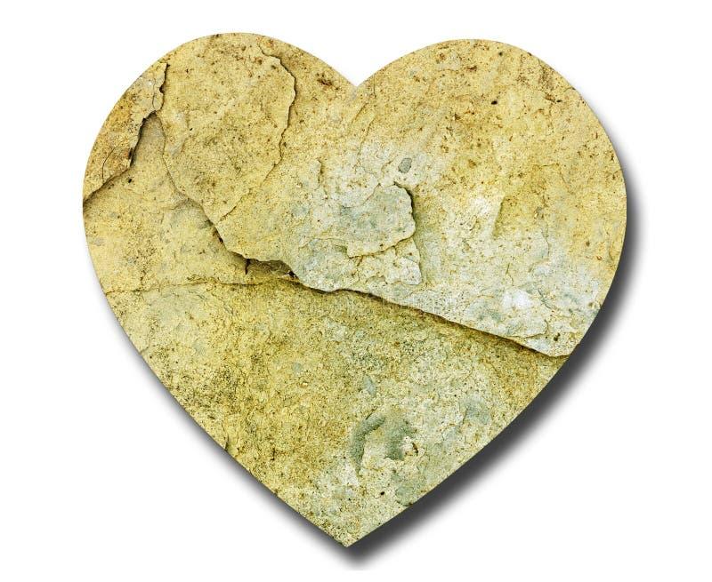 символ камня естественной формы сердца стоковое фото rf