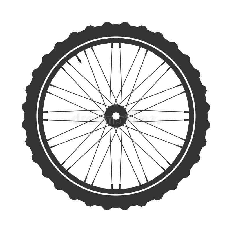 Символ колеса mtb велосипеда, вектор Велосипед резина, покрышка горы с клапаном Цикл фитнеса, mountainbike бесплатная иллюстрация