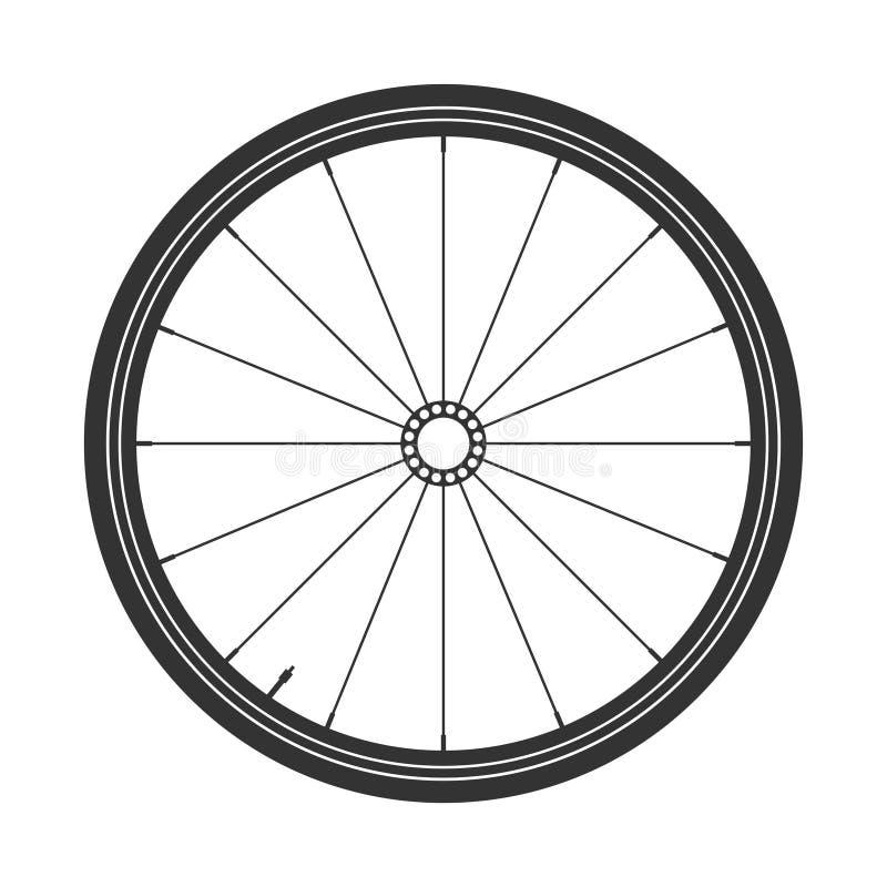 Символ колеса mtb велосипеда, вектор Велосипед резина, покрышка горы с клапаном Цикл фитнеса, mountainbike иллюстрация штока