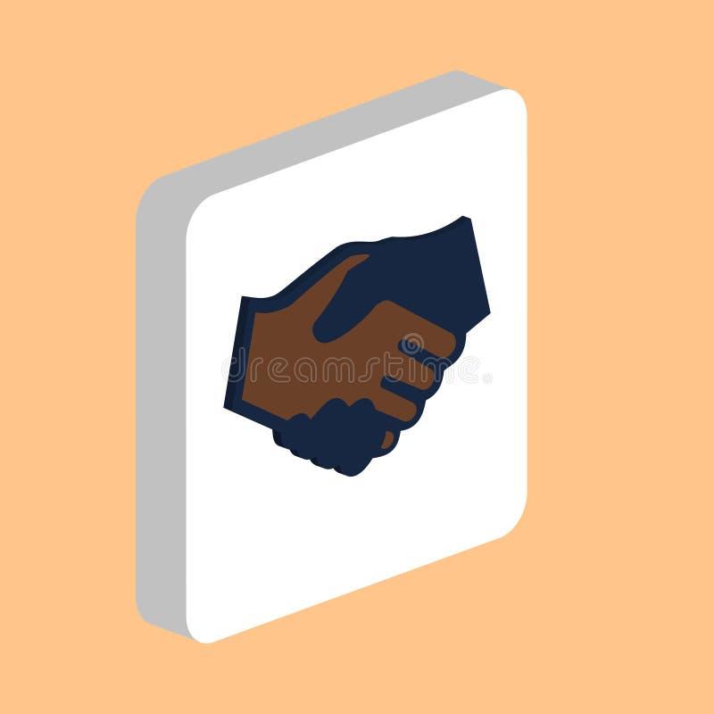 Символ компьютера рукопожатия иллюстрация штока