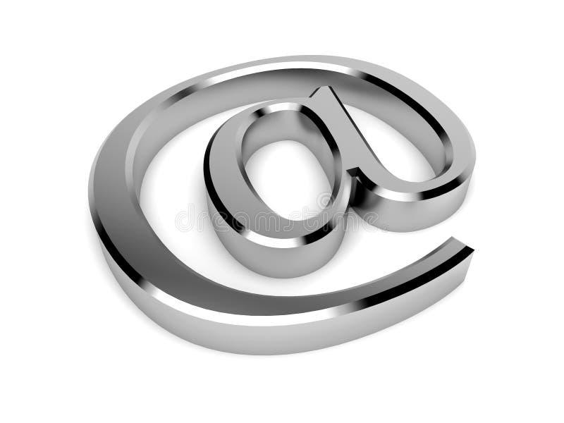 символ контакта крома 3d изолированный электронной почтой бесплатная иллюстрация