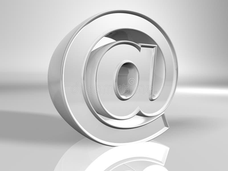 символ металла электронной почты псевдонима иллюстрация вектора