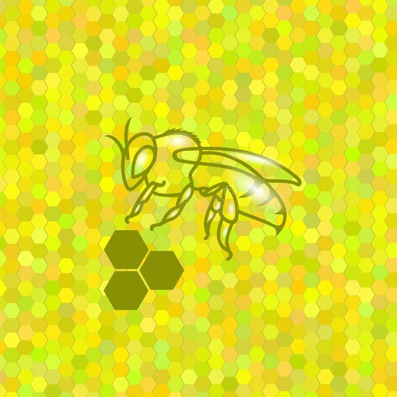 Символ милой пчелы бесплатная иллюстрация