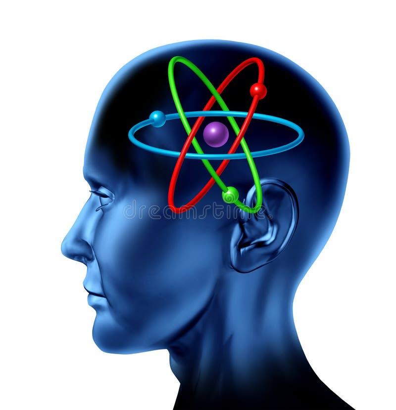 символ науки молекулы разума мозга атома научный иллюстрация вектора