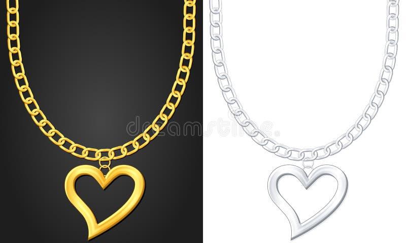 символ ожерелья сердца иллюстрация вектора