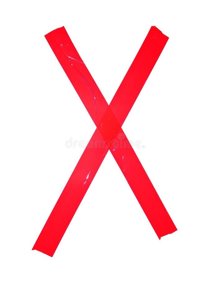Символ письма x сделал частей изолируя ленты, изолированный на whit стоковые фотографии rf