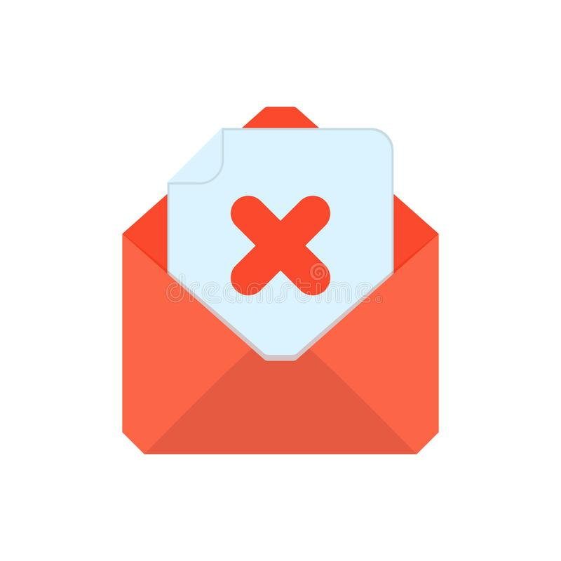 Символ почты Икона габарита Конверт удаления Дизайн знака иллюстрация вектора
