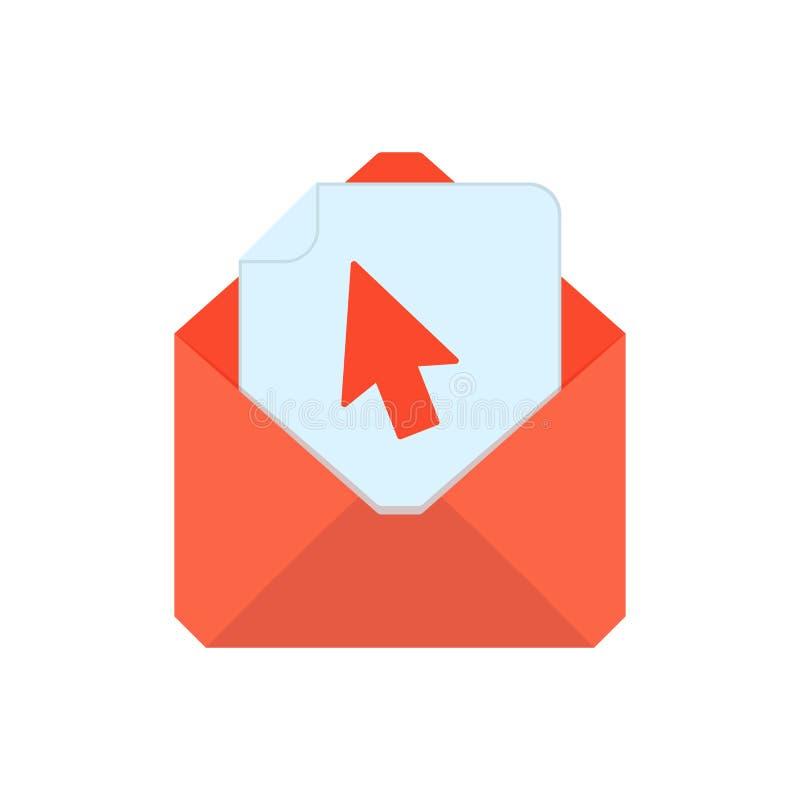 Символ почты Икона габарита Конверт щелчка Дизайн знака иллюстрация штока