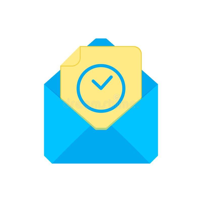 Символ почты Икона габарита Ожидание для конверта Дизайн знака иллюстрация вектора