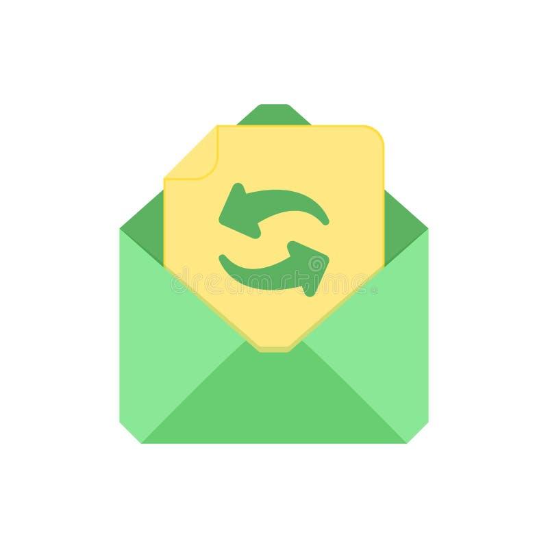 Символ почты Икона габарита Освежите конверт Дизайн знака бесплатная иллюстрация