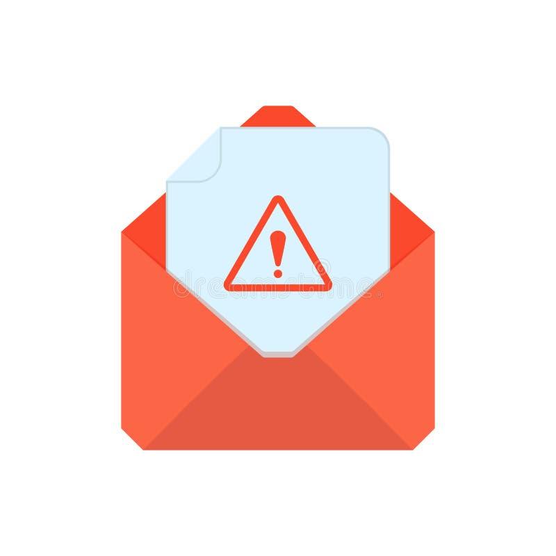 Символ почты Икона габарита Предупреждающий конверт Дизайн знака бесплатная иллюстрация