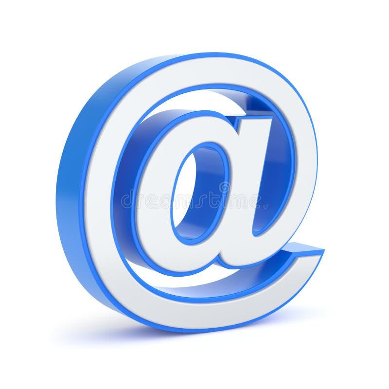 символ почты e иллюстрация вектора