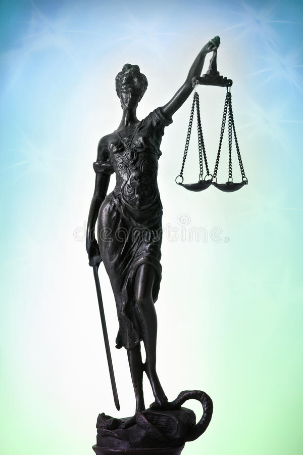 Символ правосудия стоковое изображение