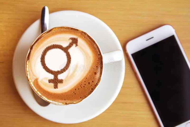 Символ равенства полов стоковое фото rf