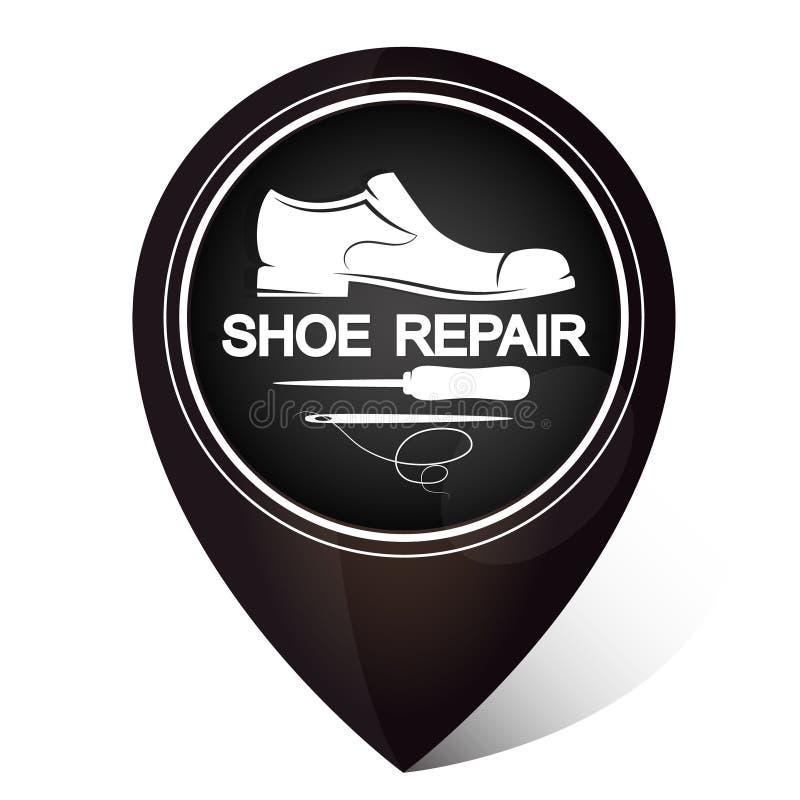 Символ ремонта ботинка иллюстрация вектора