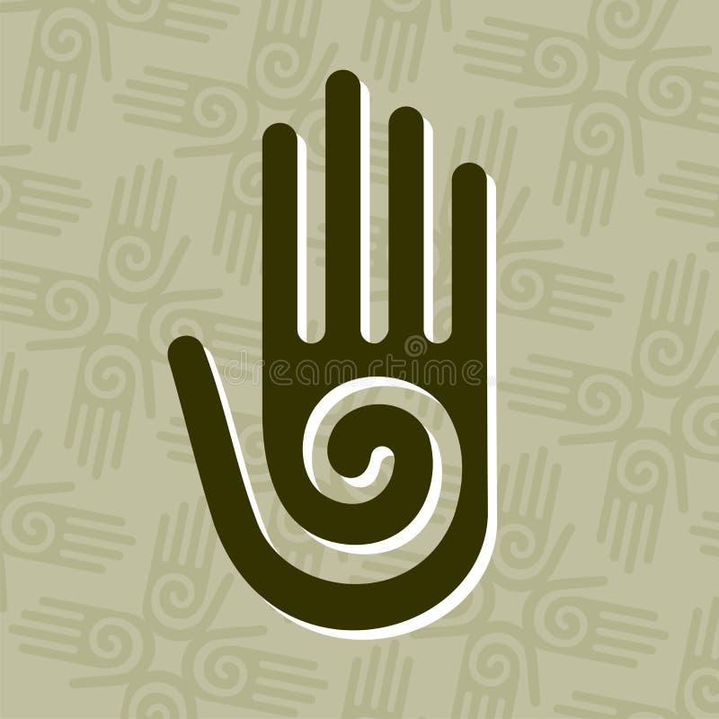 символ руки спиральн иллюстрация штока