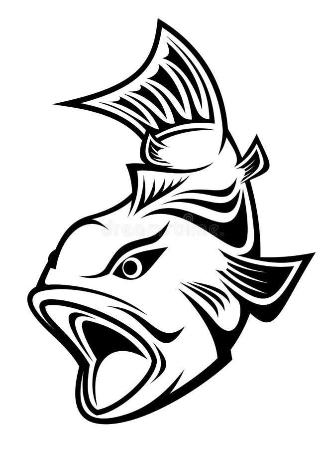 символ рыболовства иллюстрация штока