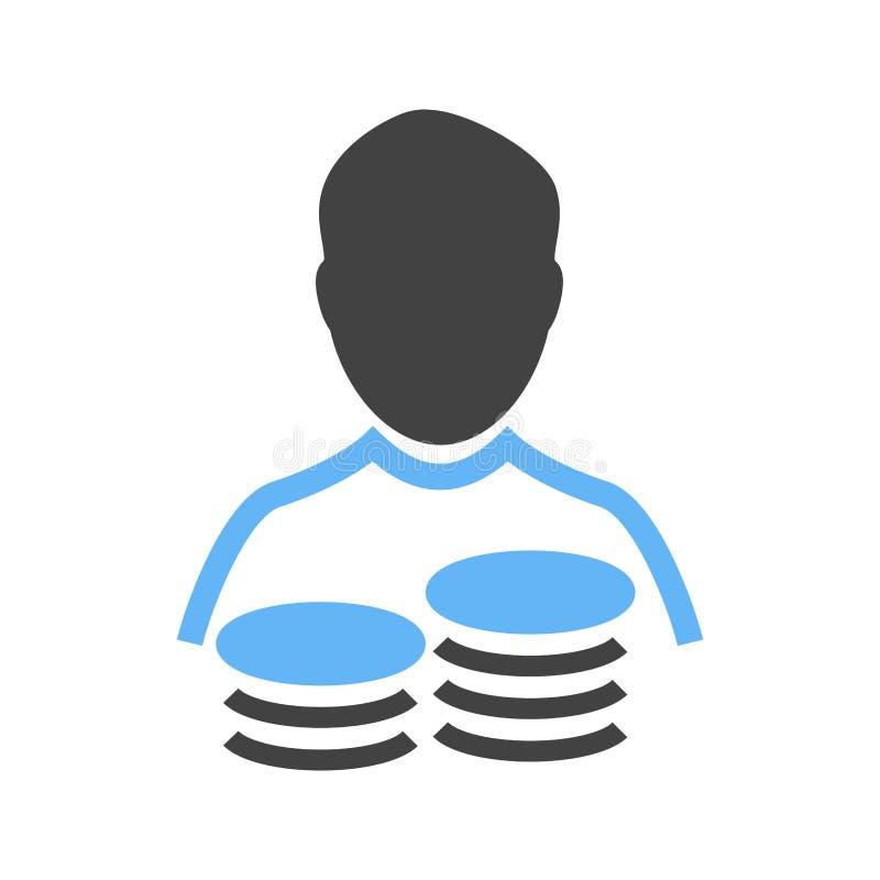 Символ сберегательного счета иллюстрация вектора