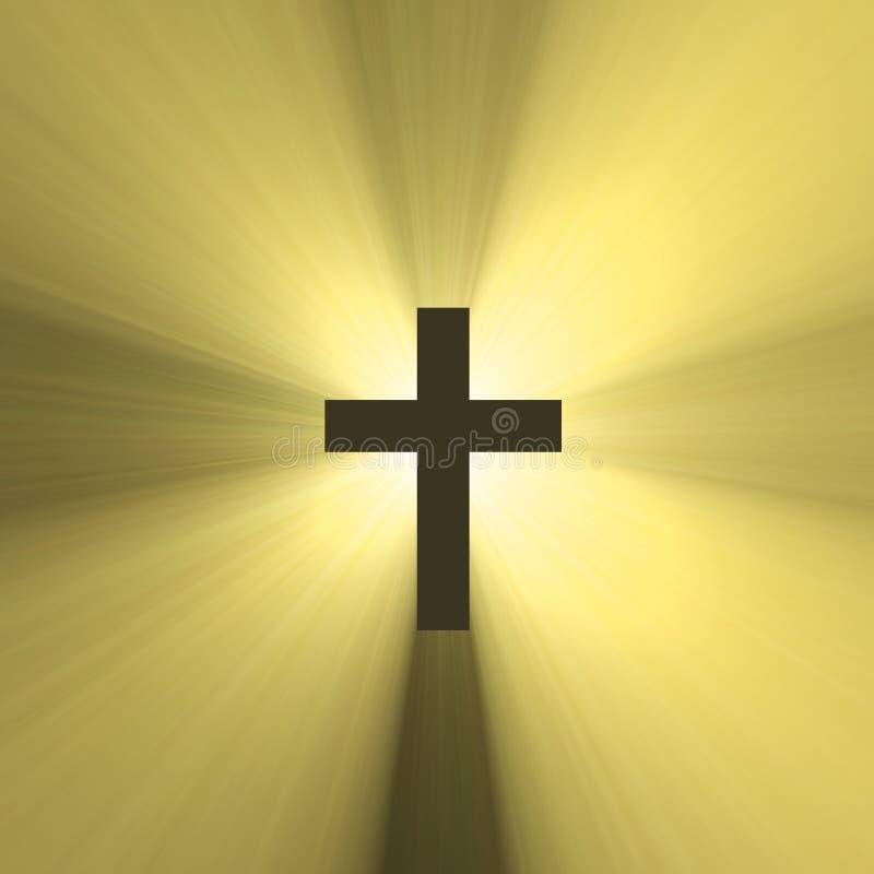 символ солнца перекрестного пирофакела святейший светлый иллюстрация штока