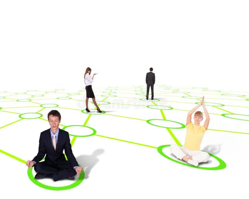 Символ социальной сети иллюстрация штока
