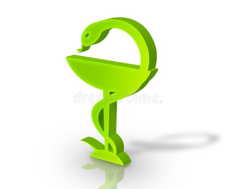 символ фармации 3d иллюстрация штока