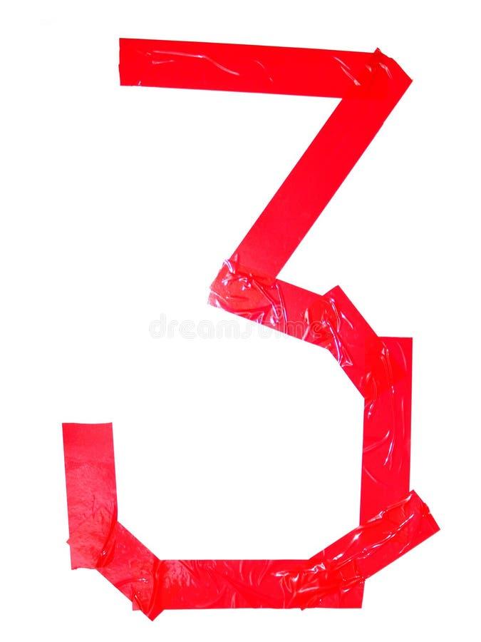 Символ цифра 3 сделанный частей бюрократизма, изолированный на белизне стоковое изображение