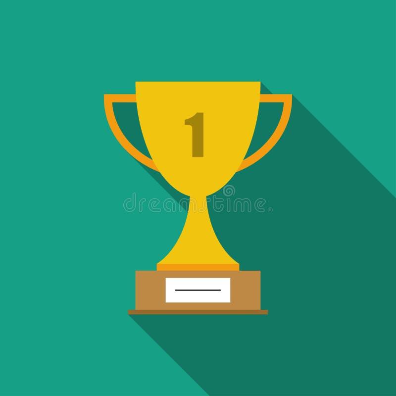 Символ чашки победителя плоский Значок чашки трофея бесплатная иллюстрация