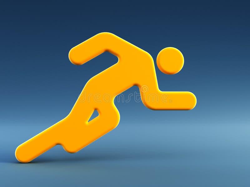 символ человека идущий иллюстрация штока