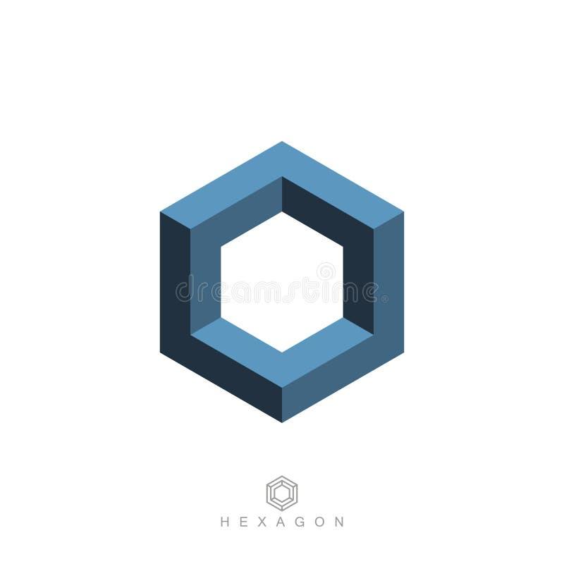 Символ шестиугольника, невозможная геометрическая форма бесплатная иллюстрация