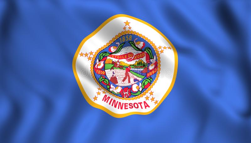 Символ штата США флага Минесоты иллюстрация штока