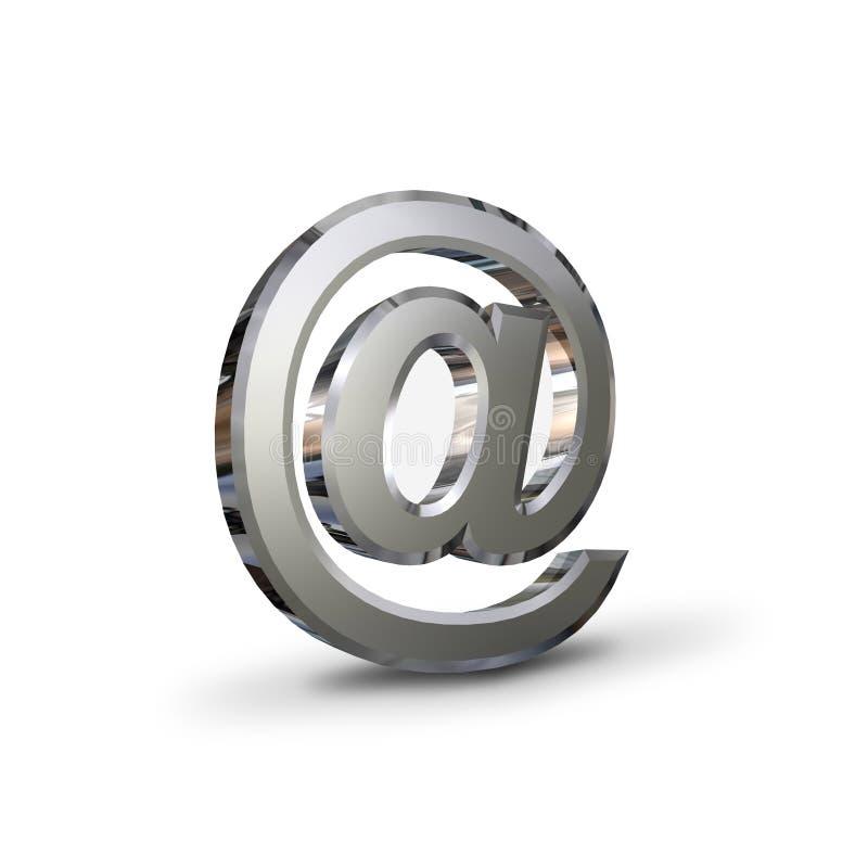 символ электронной почты крома иллюстрация штока