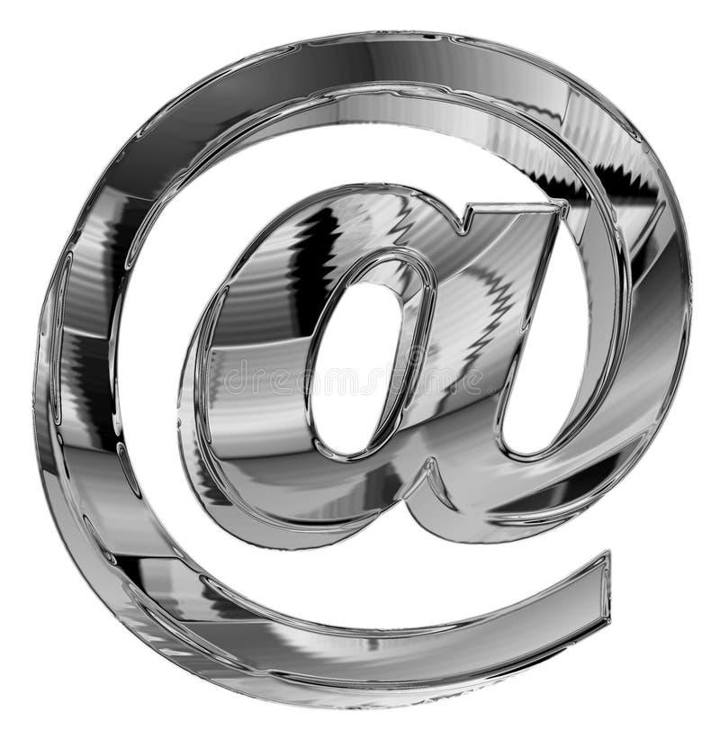 символ электронной почты крома иллюстрация вектора