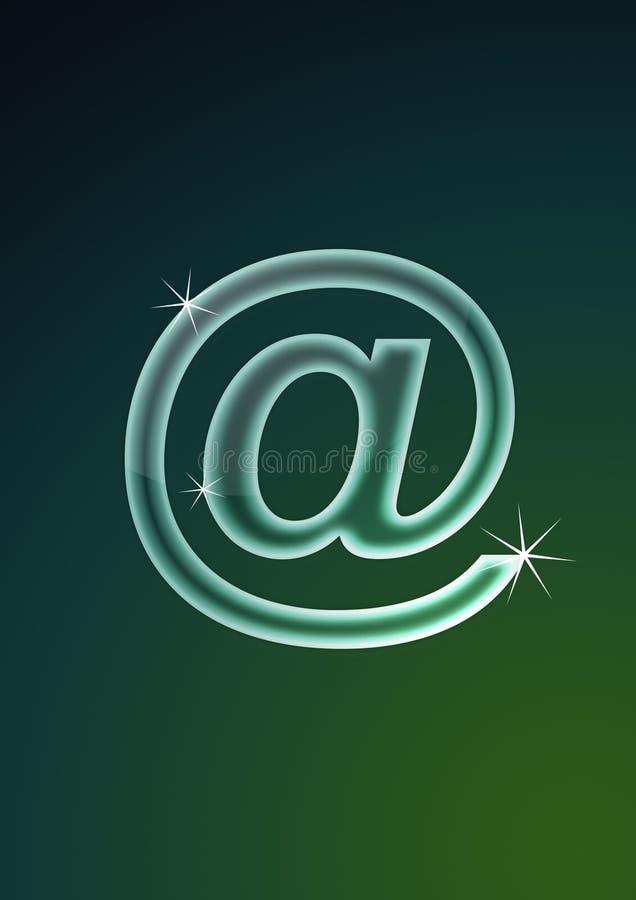 символ электронной почты псевдонима иллюстрация штока