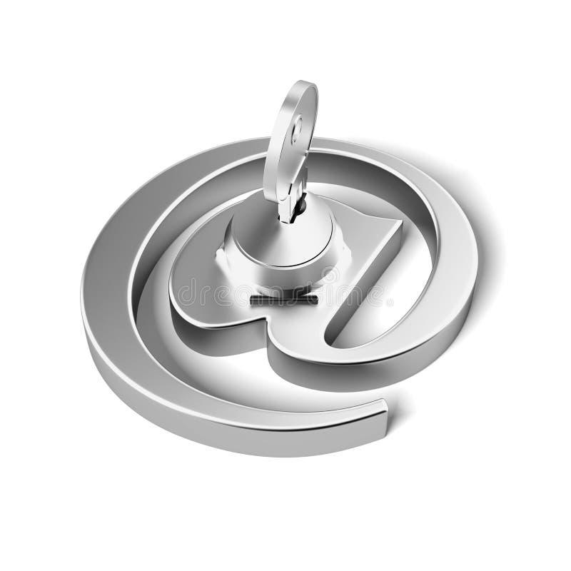 Символ электронной почты с ключом иллюстрация вектора