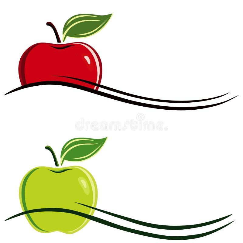 символ яблока иллюстрация штока