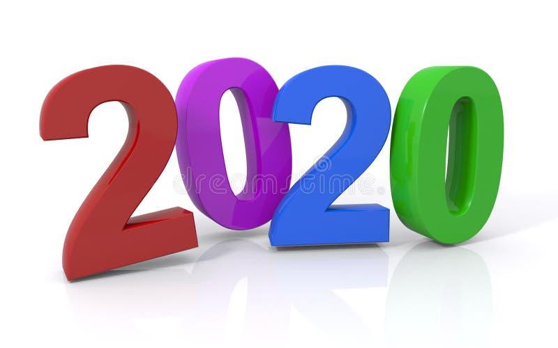 символ 2020 иллюстрация вектора
