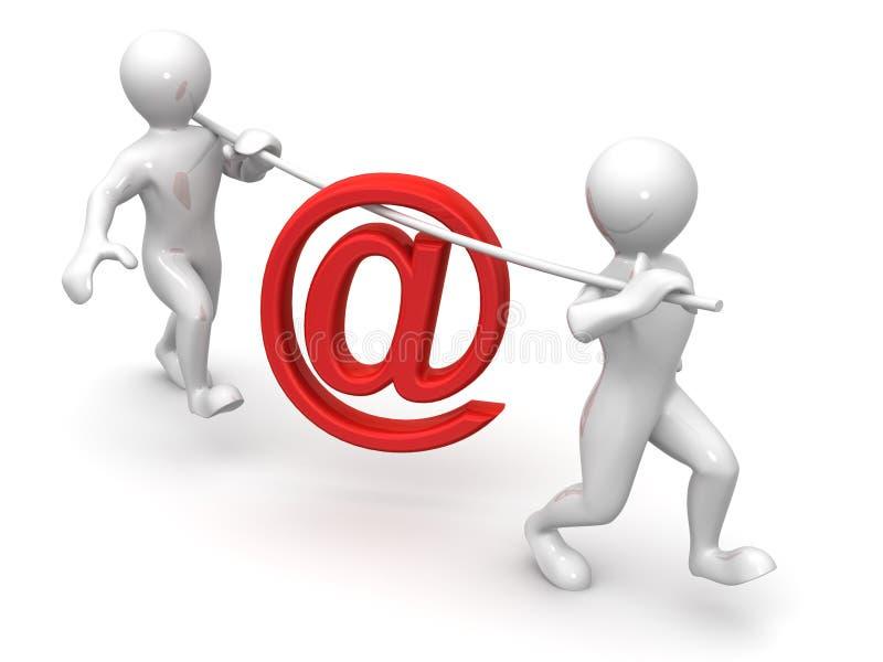 символ 2 людей почты иллюстрация вектора