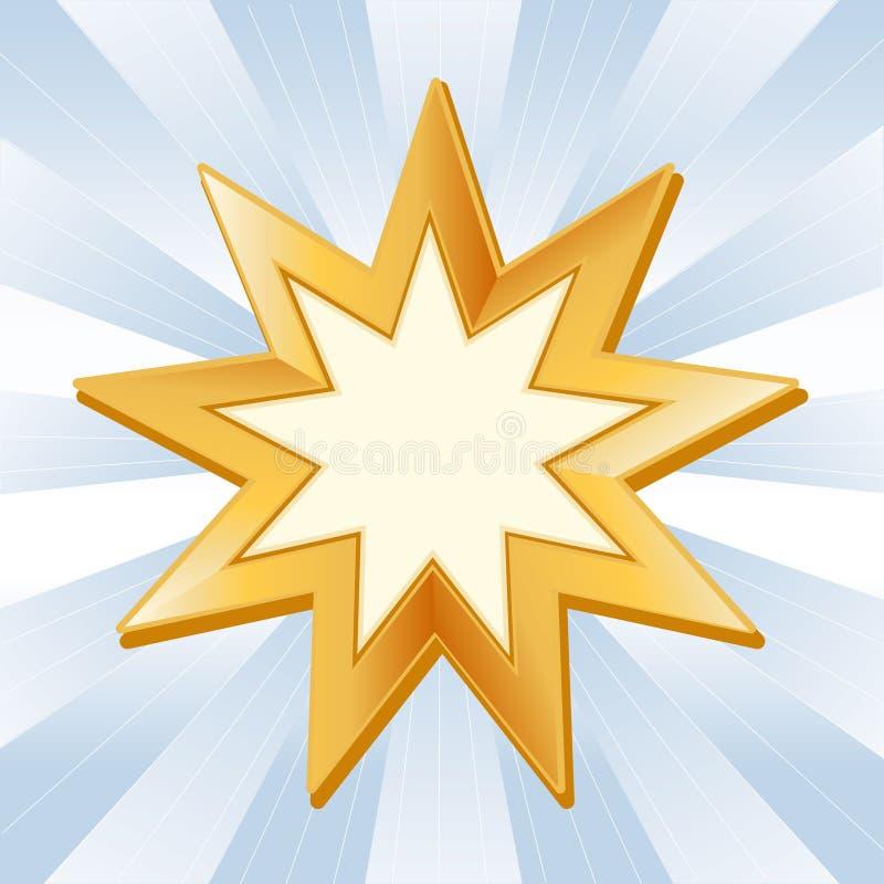 символ baha i иллюстрация вектора